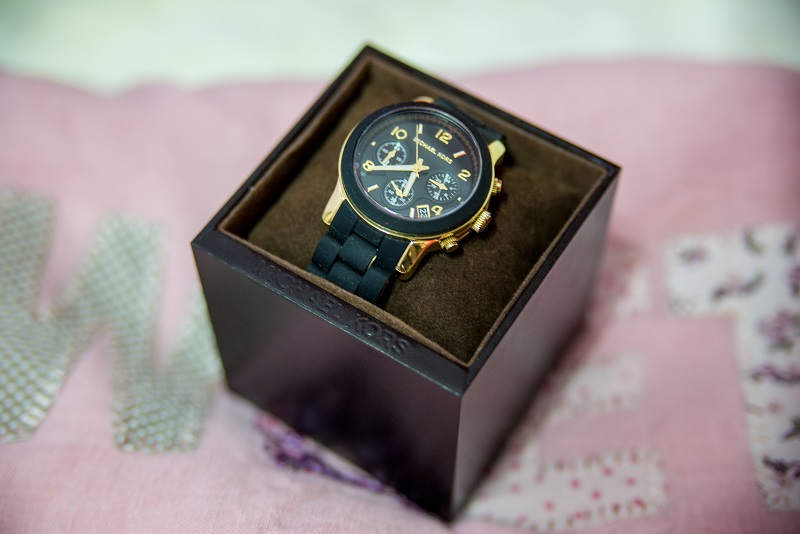 michael kors watch black silicon (2)